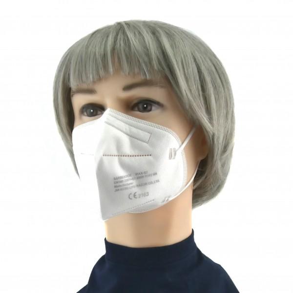 FFP2 Maske (Box 20 Stk) - Farbe: Weinrot
