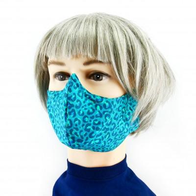 Gesichtsmaske - Hellgrün mit weissen akzenten