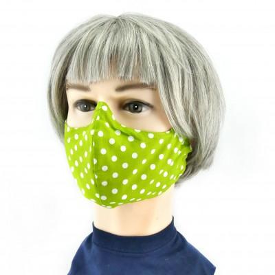 Gesichtsmaske - Gepunktet grün mit weiss