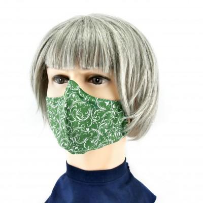 Gesichtsmaske - Grün weisse blume