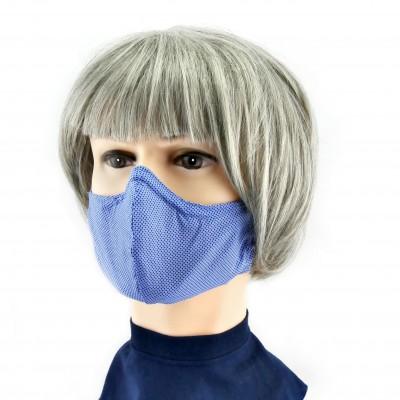 Gesichtsmaske - Blau gesprenkelt